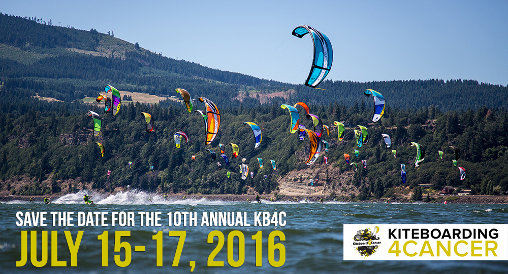 Save the Date Kiteboarding 4 Cancer